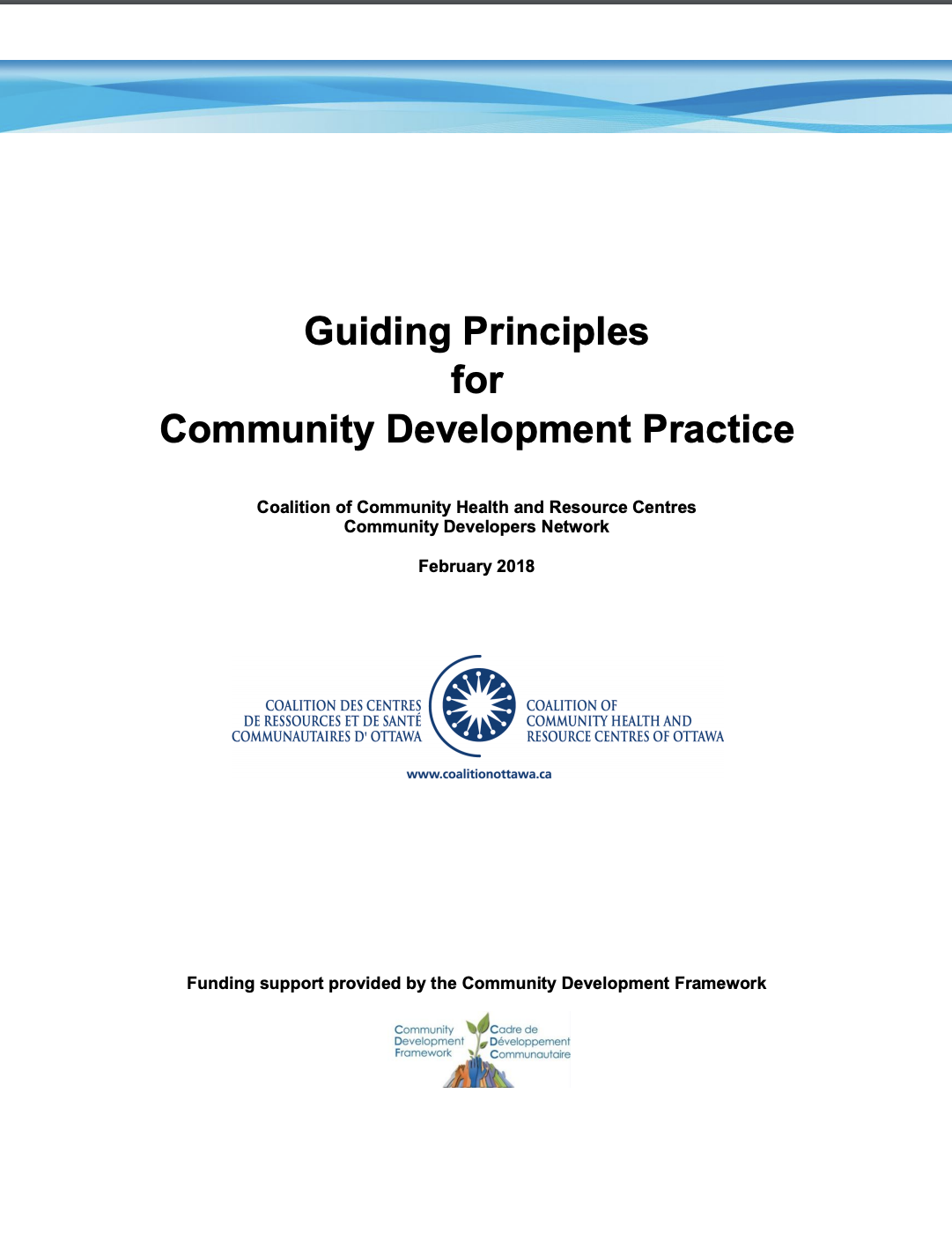 Guiding Principles for Community Development Practice