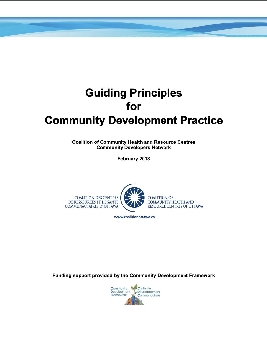 Guiding Principles for Community Development Practice